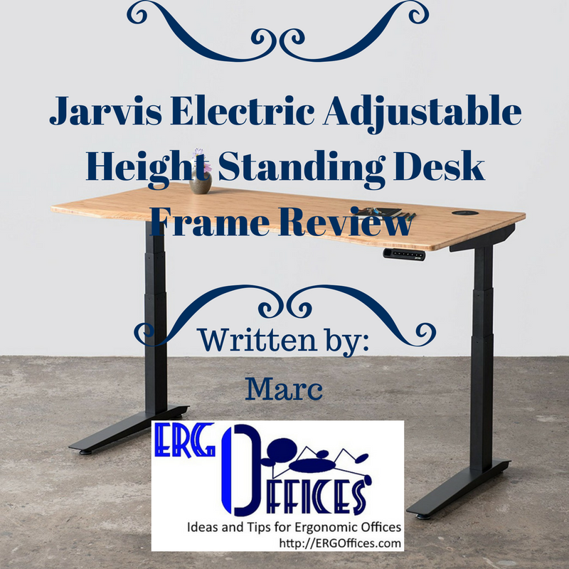 Jarvis Electric Adjustable Height Standing Desk Frame
